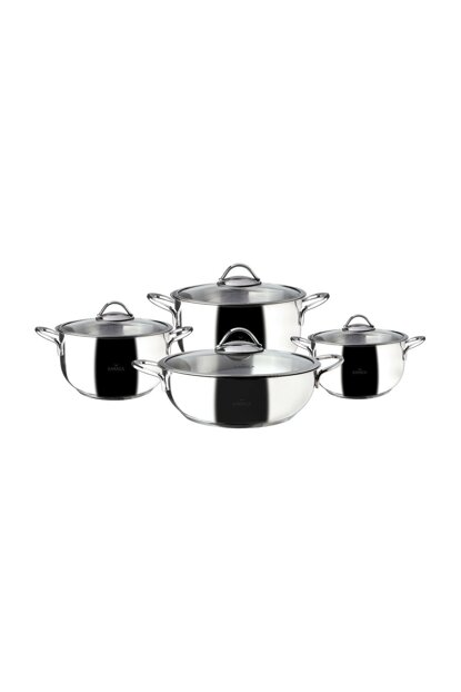 8 Pieces of Steel Cookware Set per Month 153.03.07.9172