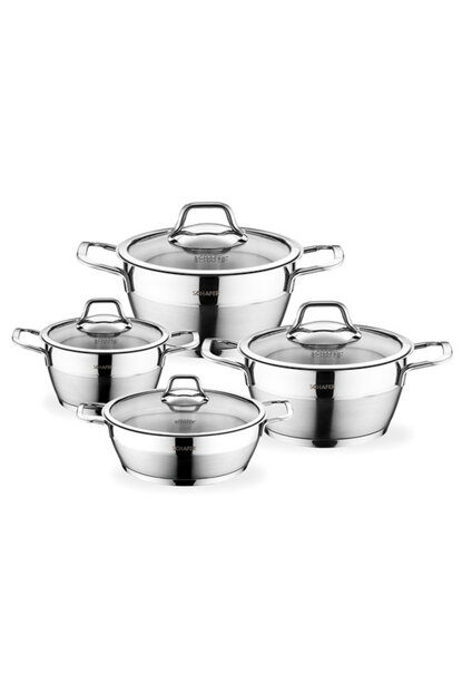 Waltz Steel Cookware Set -8 Piece -Inox hps1