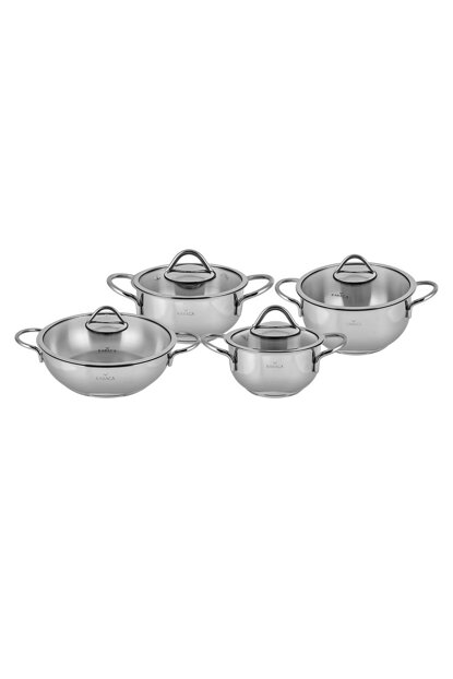 Varna 8 Pieces of Steel Cookware Set 153.03.07.9173