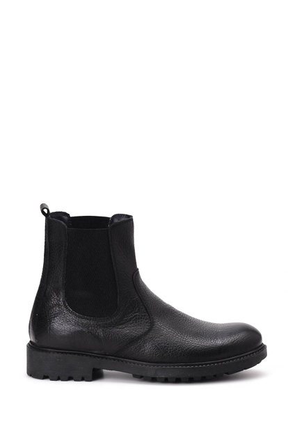 Genuine Leather Black Men Boots 18WFD350718