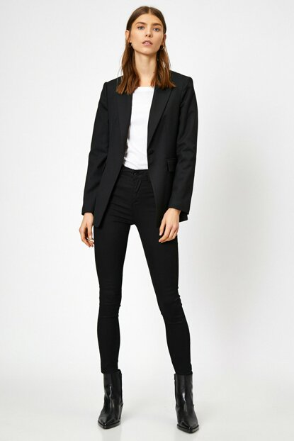 Women Black Trousers 0YAK47644DD