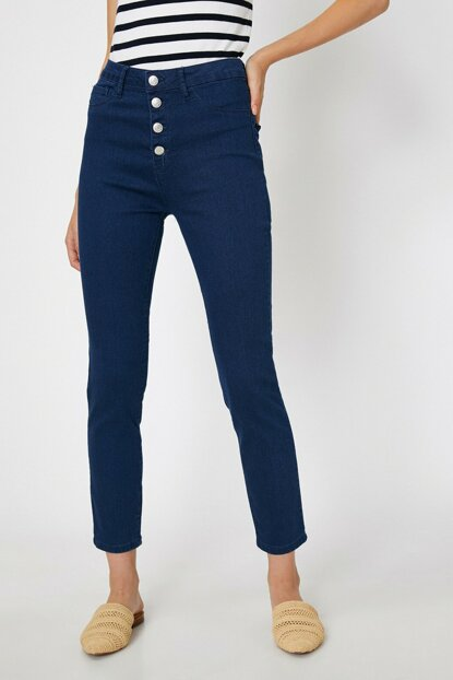 Women's Blue Carmen Pants 0KAK47336DD
