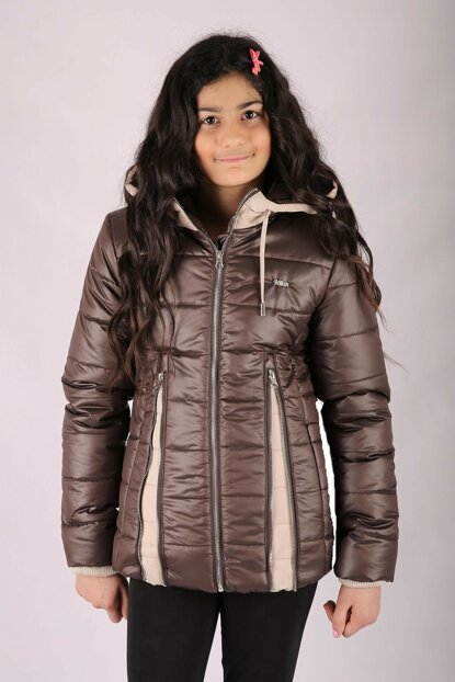Kids Club 9-13 Age Girl Children Coat Coat Brown mln74511