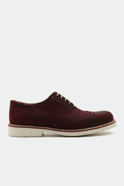 Genuine Leather Burgundy Men's Shoes 02AYH146500A780