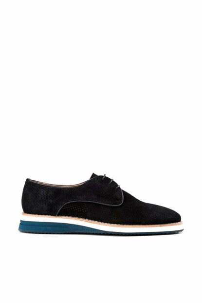 Genuine Leather Navy Blue Men Shoes 02AYH133350A680