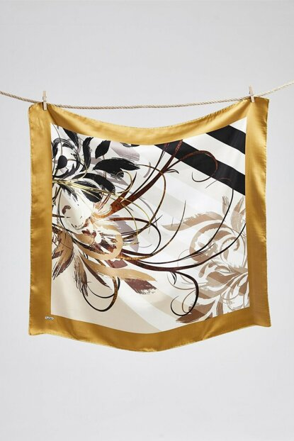 Women's Coffee Silk Scarf 9605