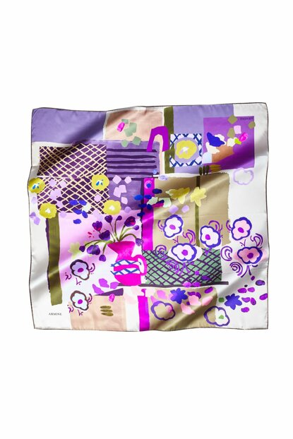 33 Dj Pure Silk Scarf with Pattern 8100D (S) 457391