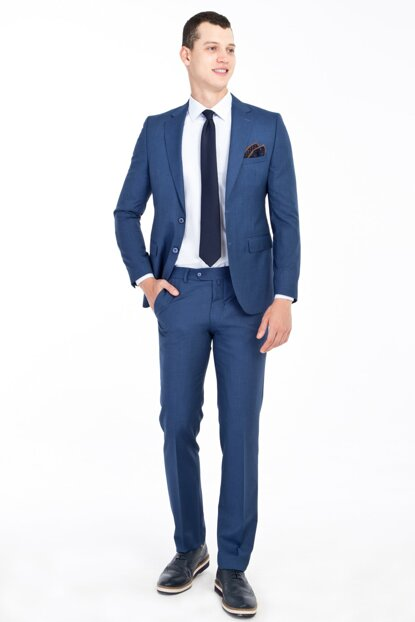 Slim Fit Patterned Suit 83831
