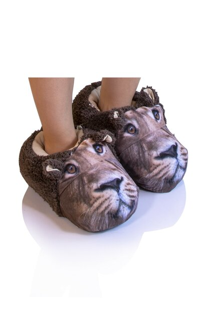 Brown Men Animal Slipper NN0429A