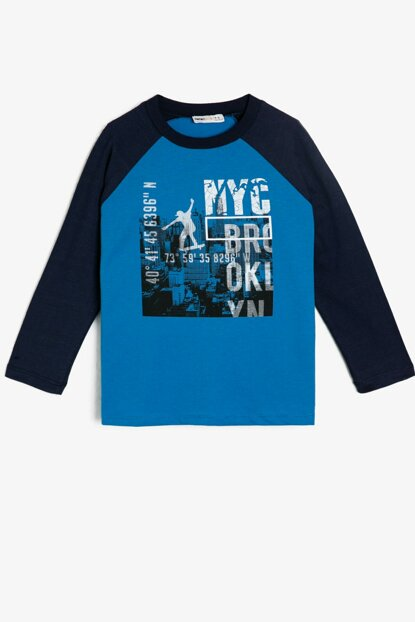 Blue Children's T-Shirt 0KKB16936OK