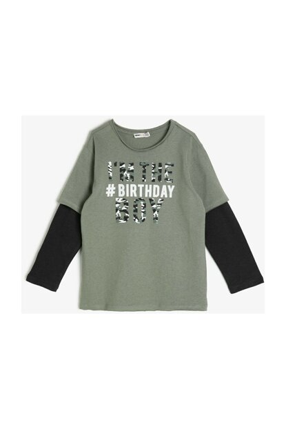 Green Children Printed T-Shirt 0KKB16389TK