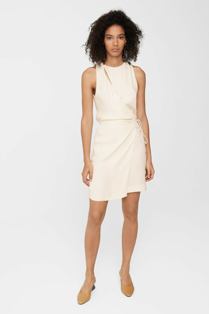 Women's Off White Bow Wrap Dress 11023033