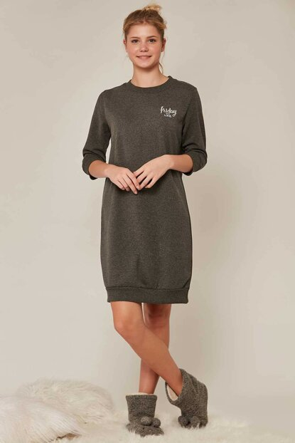 Women's Anthracite 3/4 Sleeve Tunic 908024 Y19W137-9080240000