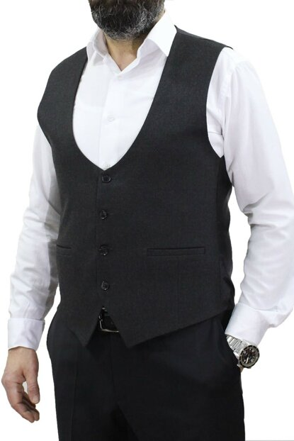 U Neck Smoked Vest Slim Fit 50224