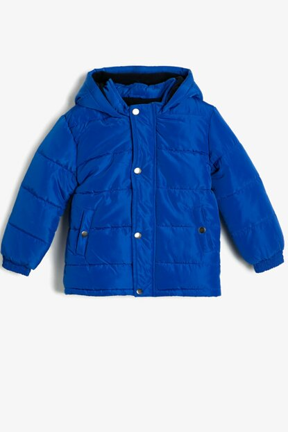 Blue Hooded Inflatable Coat 0KKB06139GW