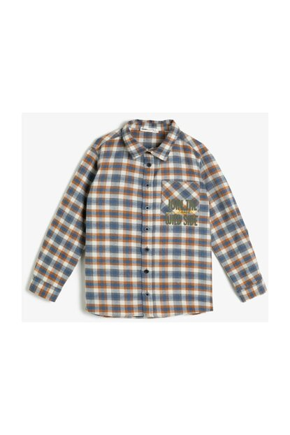 Coffee Child Plaid Shirt 0KKB66574TW
