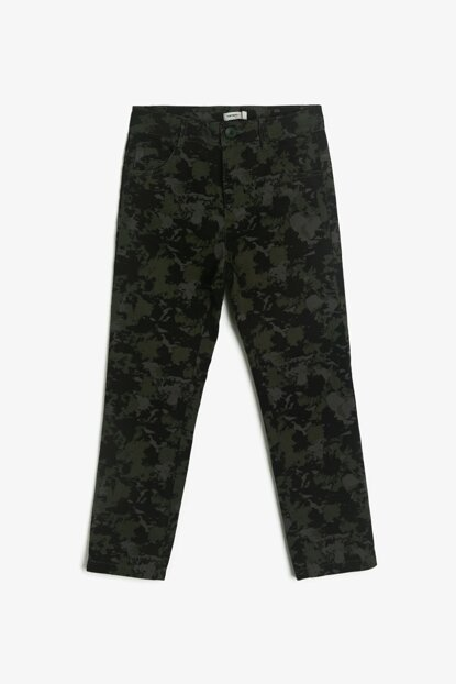 Green Children Camouflage Patterned Trousers 0KKB46697GW