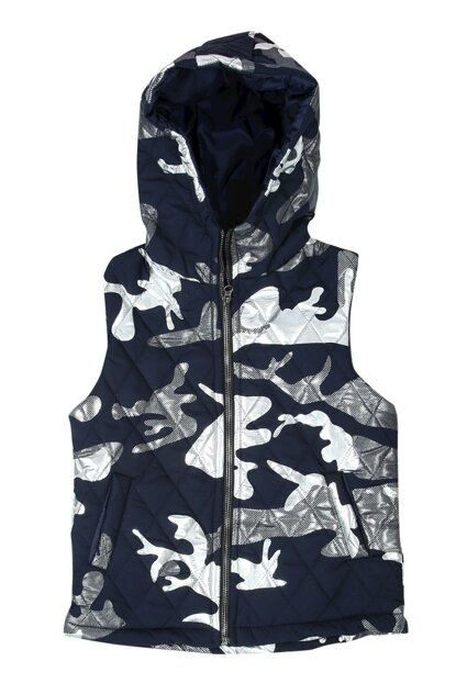 Girl's Hooded Quilted Vest 12157-