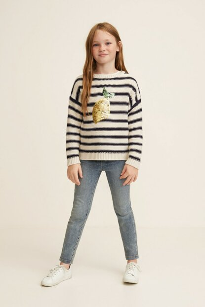 Medium Denim Trousers for Girls 33065759