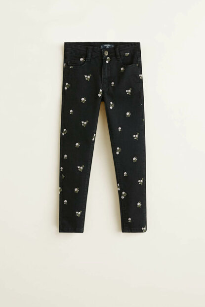 Black denim girls trousers 33045749