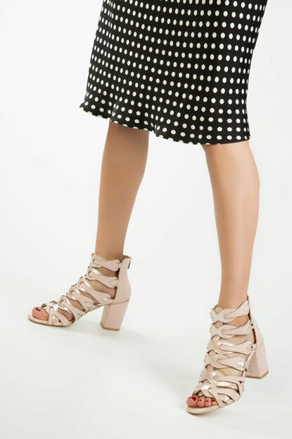 Powdered Suede Women Heeled Shoes 13086