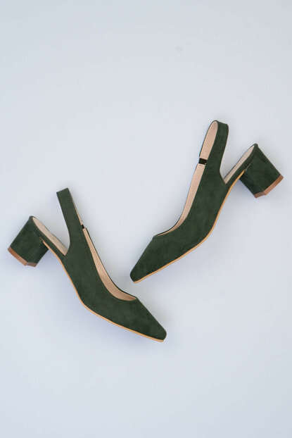 Green Women's Classic Heeled Shoes F0345721072