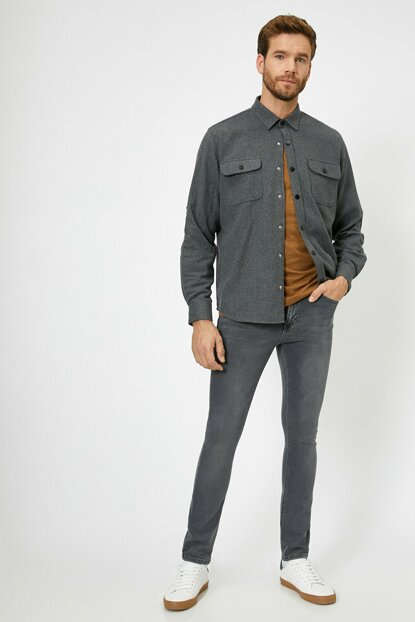 Men's Gray Trousers 0KAM43089MD