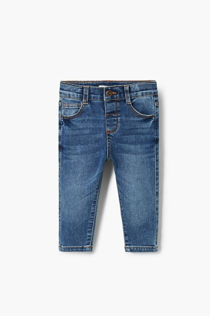 Medium Denim Baby Boy Trousers 33040697