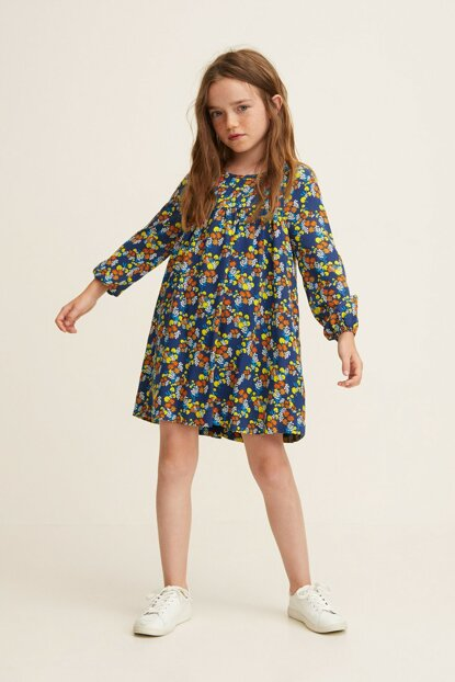 Dark Blue Children Dress 33080907