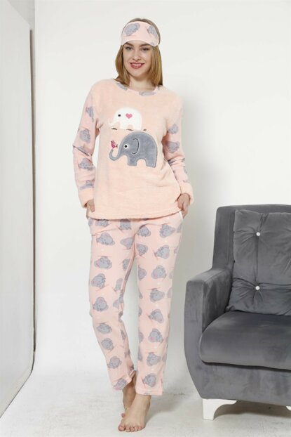 Women's Salmon Wellsoft Pajamas Set 8031