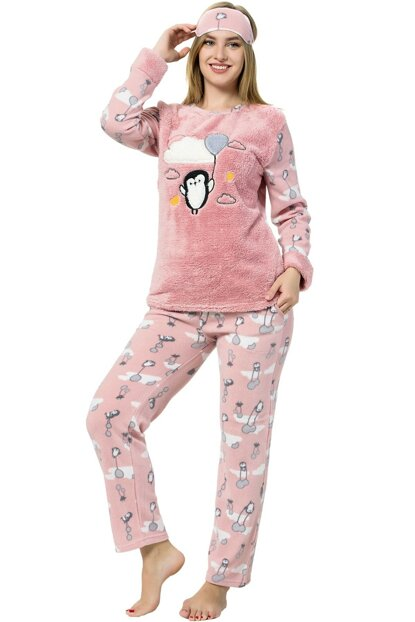 Women's Salmon - Mink Wellsoft Pajama Set 8053