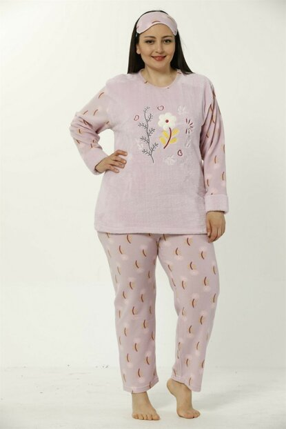 Women's Lilac Wellsoft Plus Size Pajama Set 8040