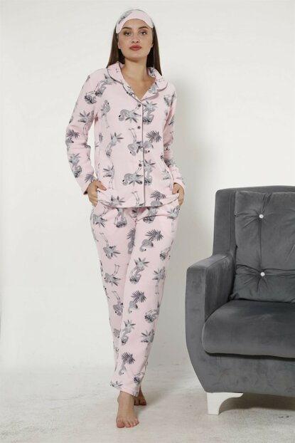 Women's Pink Wellsoft Pajama Set 8048