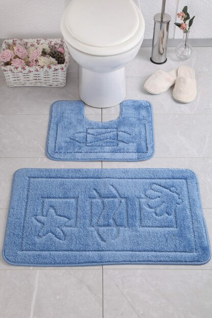 Maritime 50x80 40x50 cm PS Blue Bath Mat CONMM8680318018977