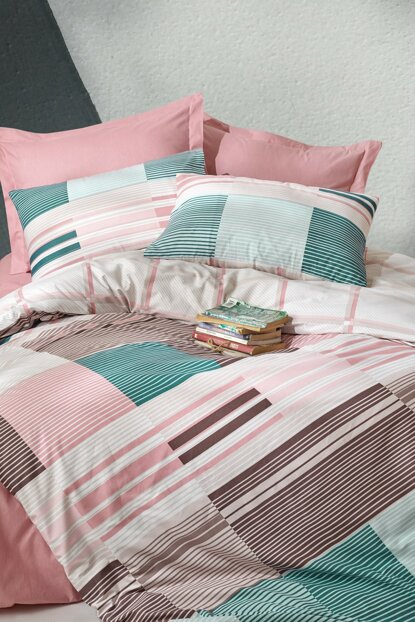 Ranforce Single Bed Linen Set - Eva Powder 1176459043051