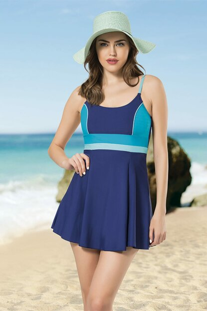 Women's Blue-Turquoise Dress Swimwear NB19YME00005