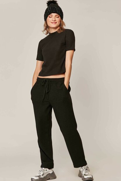 Women Black Trousers 39579 Y19W109-39579