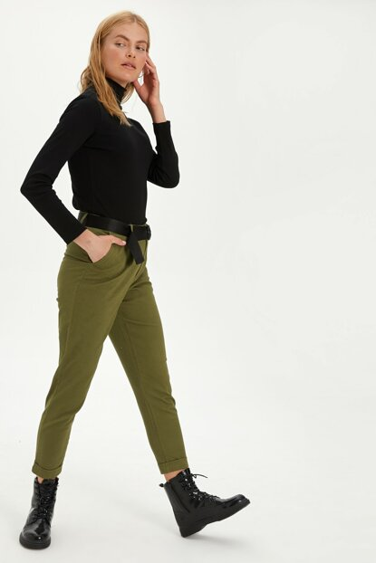 Women's Khaki Pants 9WM357Z8