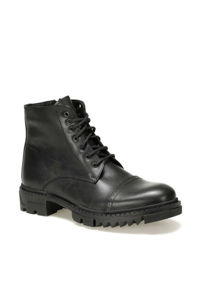 Genuine Leather Black Men Boots 4119