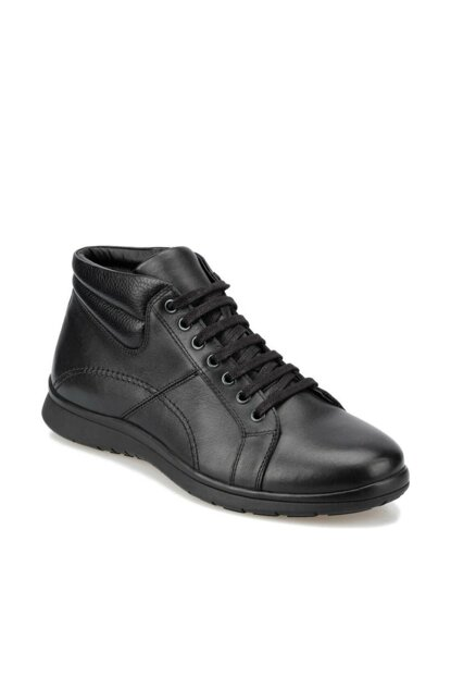 Genuine Leather Black Men Boots 92.100619.M