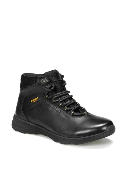 Genuine Leather Black Men Boots 227223 9PR