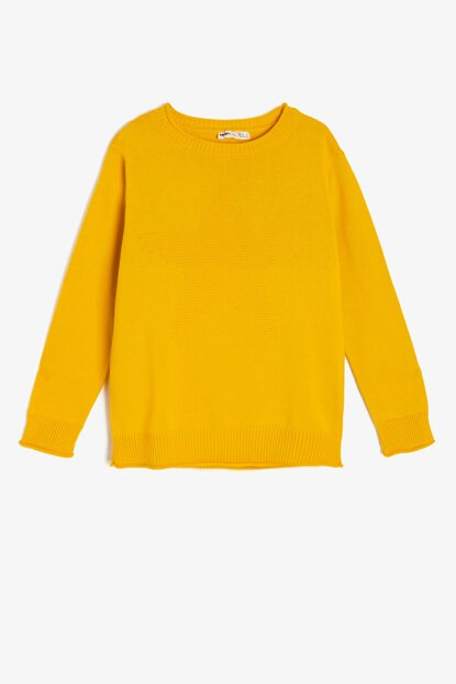 Yellow Kids Crew Neck Sweater 0KKB96885HT
