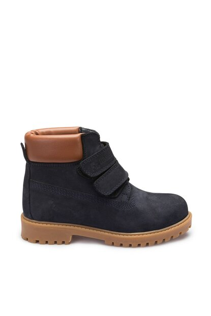 Genuine Leather Navy Blue Unisex Children Boots A3374213
