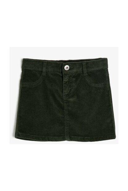 Green Kids Pocket Detail Skirt 0KKG77626OW