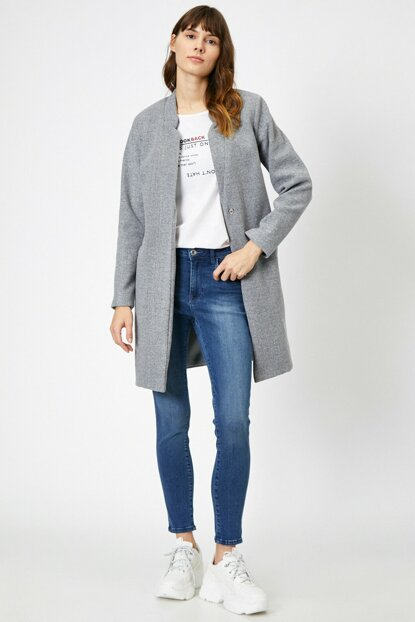 Women's Gray Coat 0KAK05351YW