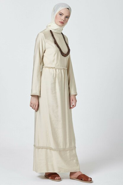 Women's Beige Y Dress 3060677