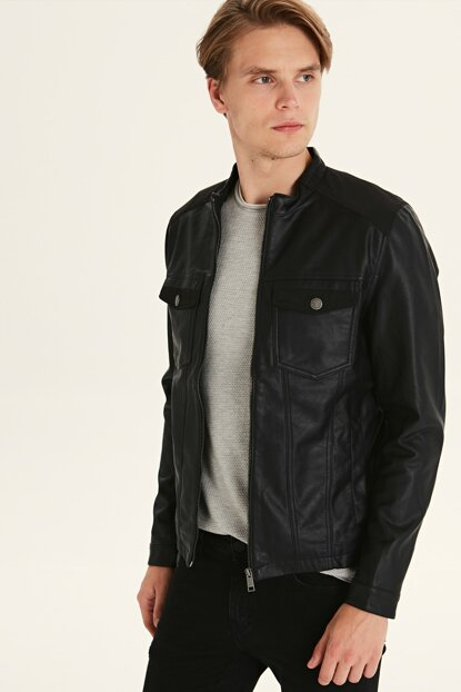 Men's Black Coats 9WH644Z8