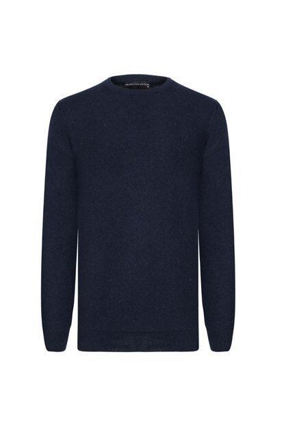 Men's Navy Blue Crew Neck Sweater 361313