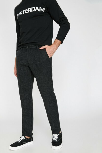 Men's Gray Pocket Trousers 0KAM41078BW