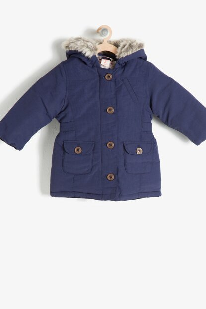 Navy Blue Baby Girl Coat 7KMG09043GW